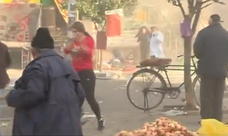 Video/ Ja pamjet pak sekonda pas tmerrit në Shkodër. Njerëz në panik e të gjakosur,
