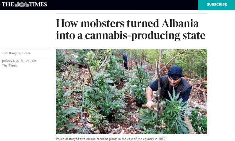 """""""The Times"""": Si kriminelët shqiptarë e kthyen Shqipërinë në një vend prodhues kanabisi"""