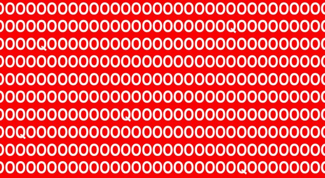 Testoni shikimin. A mund t'i gjeni të gjitha Q-të brenda 10 sekondave në këtë foto?