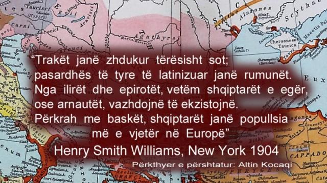 """Henry Smith Williams 1904- """"…Shqiptarët janë popullsia më e vjetër në Europë"""""""